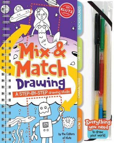 klutz mix and match drawing - 3