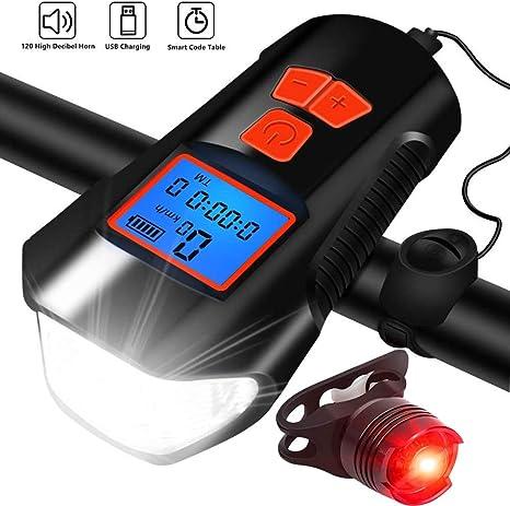 DOOK Luzde Bicicleta, Luz Bicicleta LED Recargable USB,350 Lúmenes ...