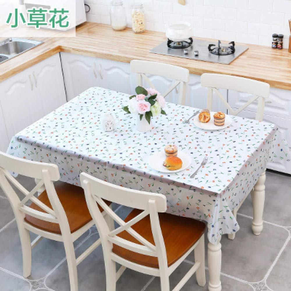 WJJYTX Wachstuch tischdecke, Abwischbare Tischdecke Rechteckige wasserdichte Tischdecke aus Vinyl-PVC für die Gartenküche im Außen- oder Innenbereich Teetischmatte Grass @ 130 * 180cm