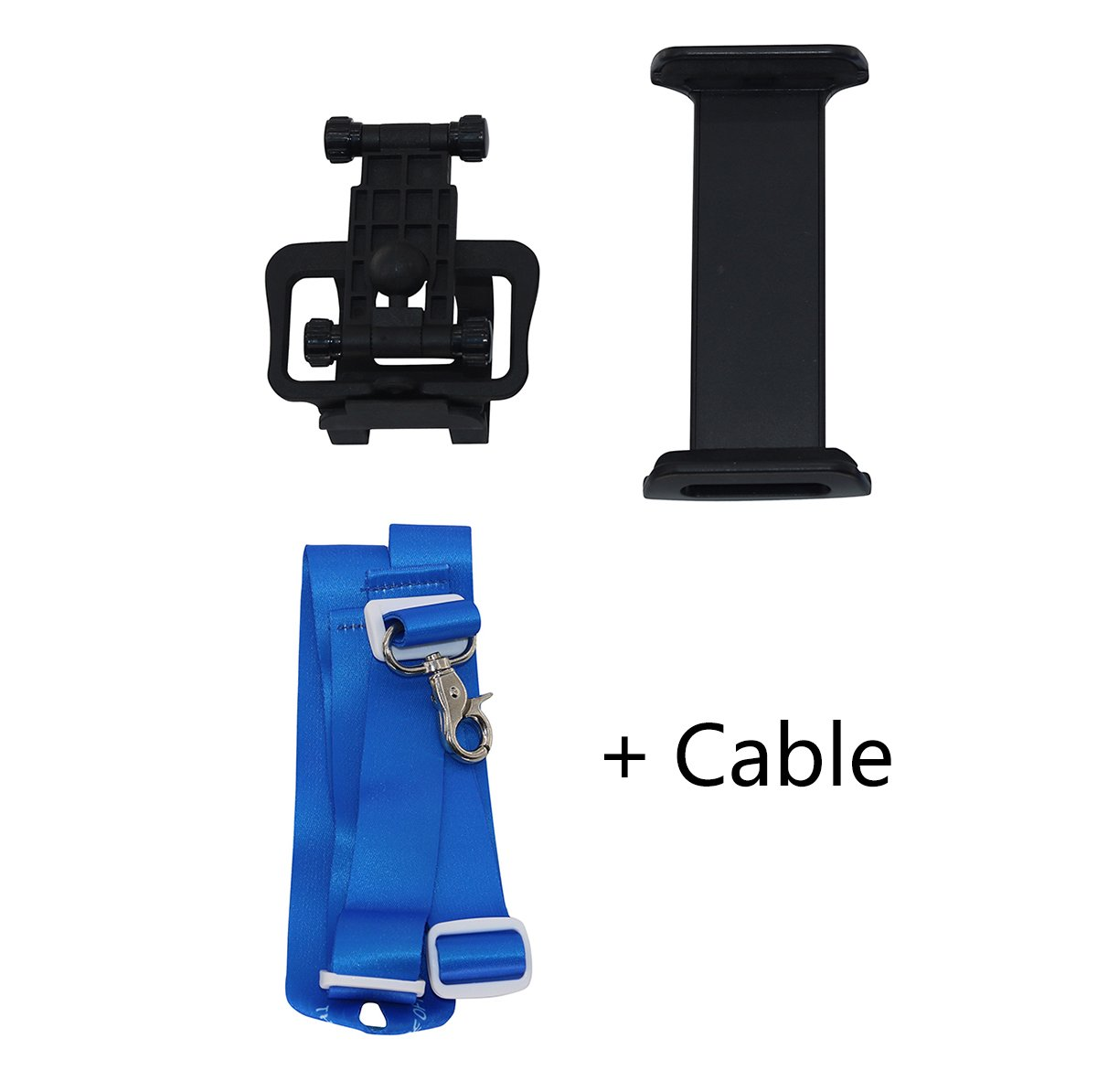 Remote Controller Device Holder Foldable 4-10 Inch Phone Tablet Extended Mount with Lanyard Neck Strap + Data Cable Line for IOS DJI Mavic Air Pro Platinum, Spark