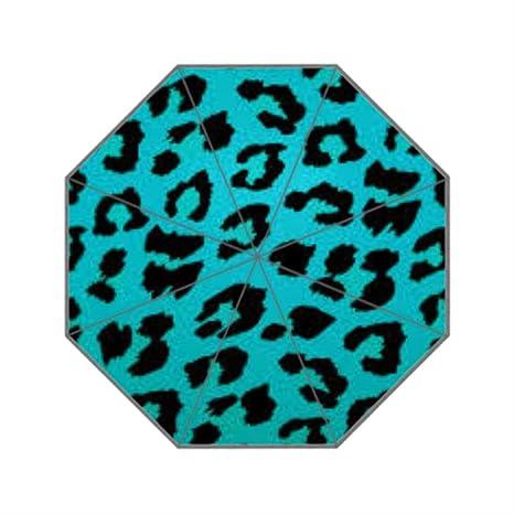 Animales piel leopardo personalizado sol lluvia anti UV paraguas de viaje plegable paraguas para las mujeres