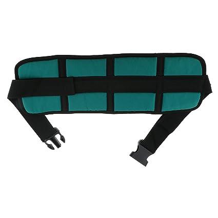 MagiDeal Cinturón de Seguridad para Silla de Ruedas Ajustable Correa Cinturón Antideslizante para Ancianos