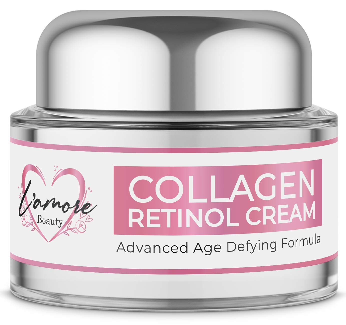 Anti Aging Retinol Face Cream with Collagen — Powerful Day & Night Anti Wrinkle Moisturizer for Women — Natural & Cruelty Free