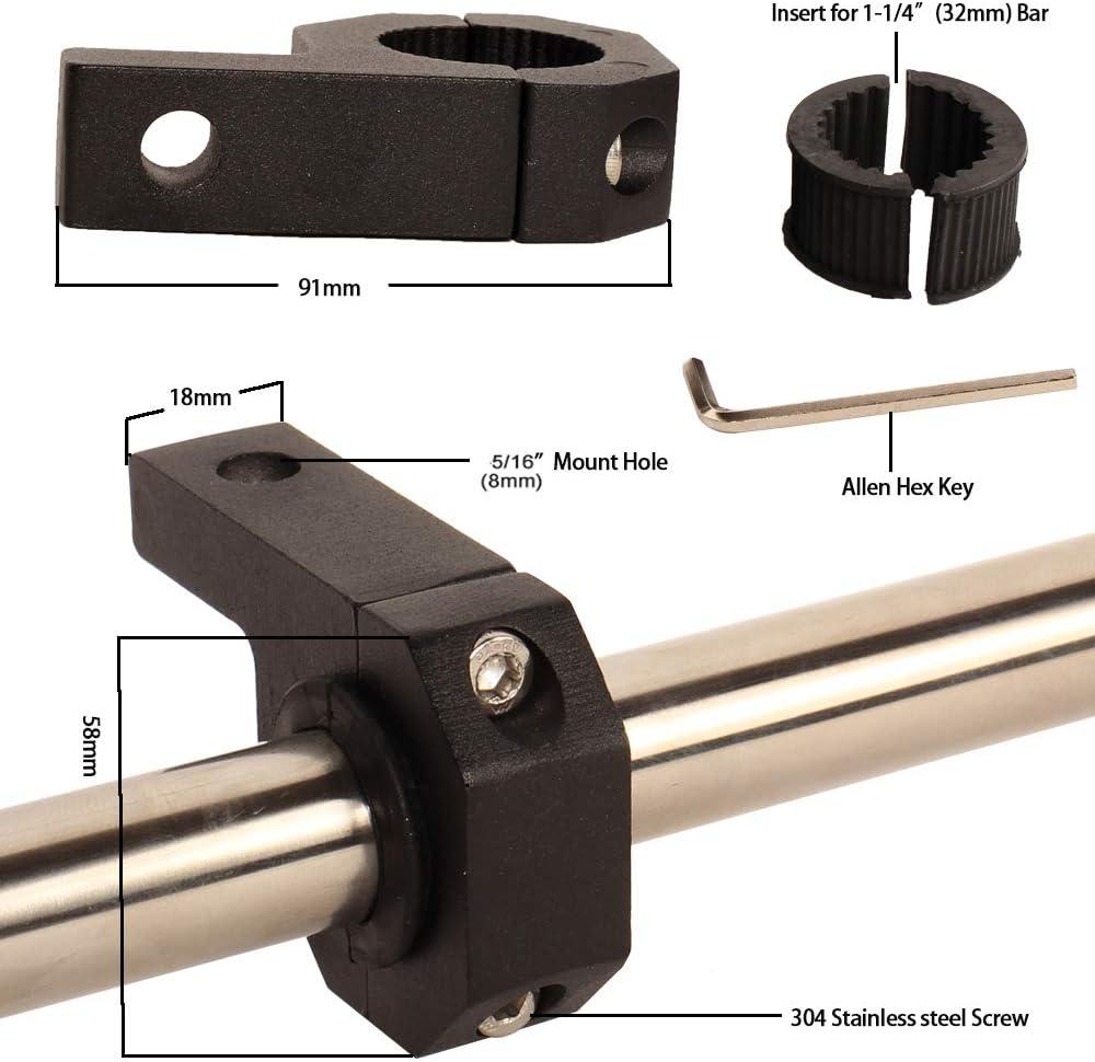 "House Tuning 4pcs 1.75/"" Tube Clamp Bracket Roll Bar Light Clamp,Roll Bar Mount"