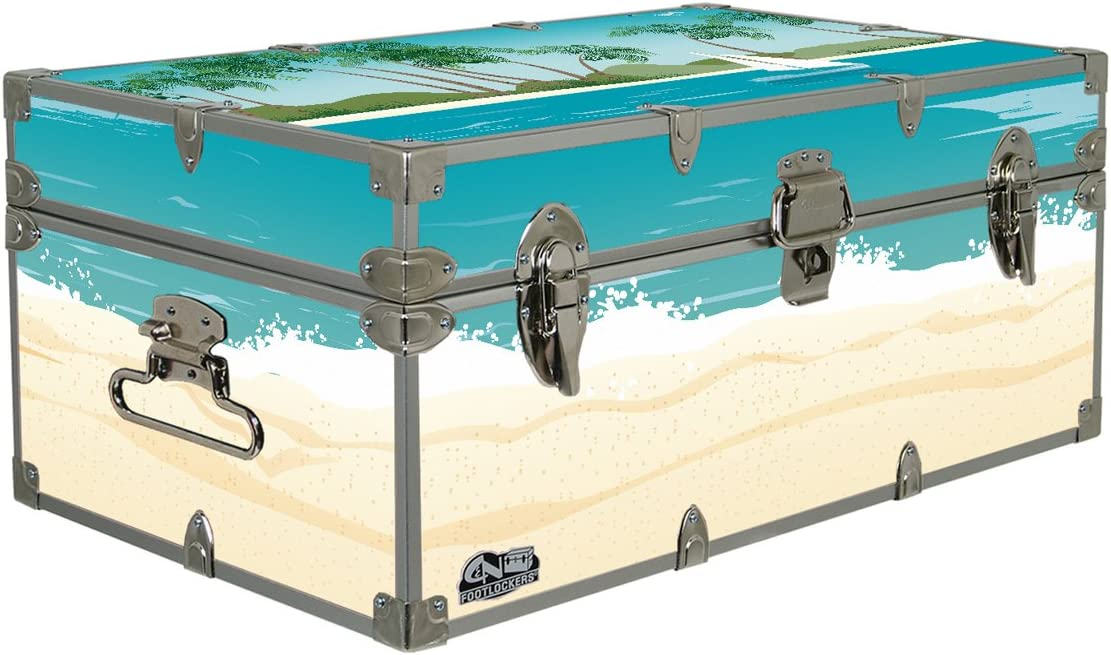C N Footlockers Designer Storage Trunks – Nature Themes – 32 x 18 x 13.5 Inches – Durable and Built to Last – Lockable Sailing Away