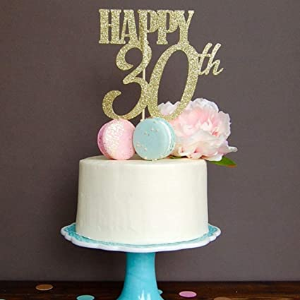 CC HOME 30th Birthday Decorations Party Supplies 30 Cake Toppers Gifts
