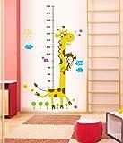 ufengke® Giraffa Cartoon Carino e Scimmia Adesivi Murali con Metri, Camera dei Bambini Vivai Adesivi da Parete Removibili/Stickers Murali/Decorazione Murale