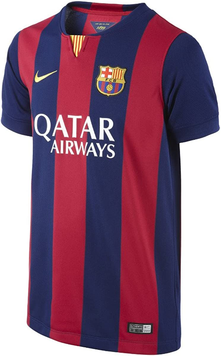 amazon com nike youth barcelona home jersey 2014 2015 yxs yxs clothing nike youth barcelona home jersey 2014 2015