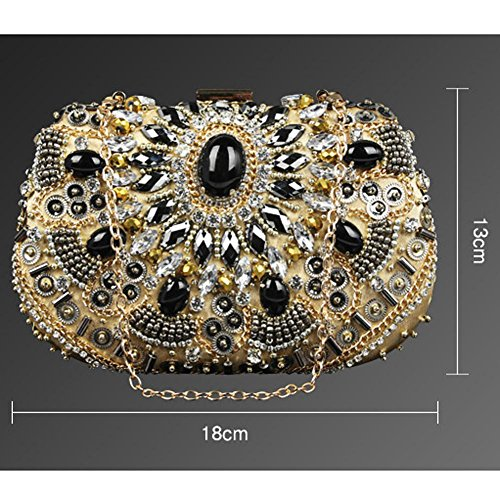 Luxurious Handbag£¬ NVBAO £¨18 Lady Bag gold 13cm£© Evening Wedding Clutch Purse Bridal Diamond Party X wqRX1HqZUx