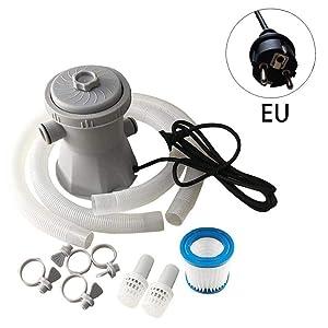 por Encima de la Bomba de filtración de la Piscina Bomba de Agua de circulación de Agua Filtro de Tierra de la Piscina de Limpieza Bombas estándar Conjunto EU