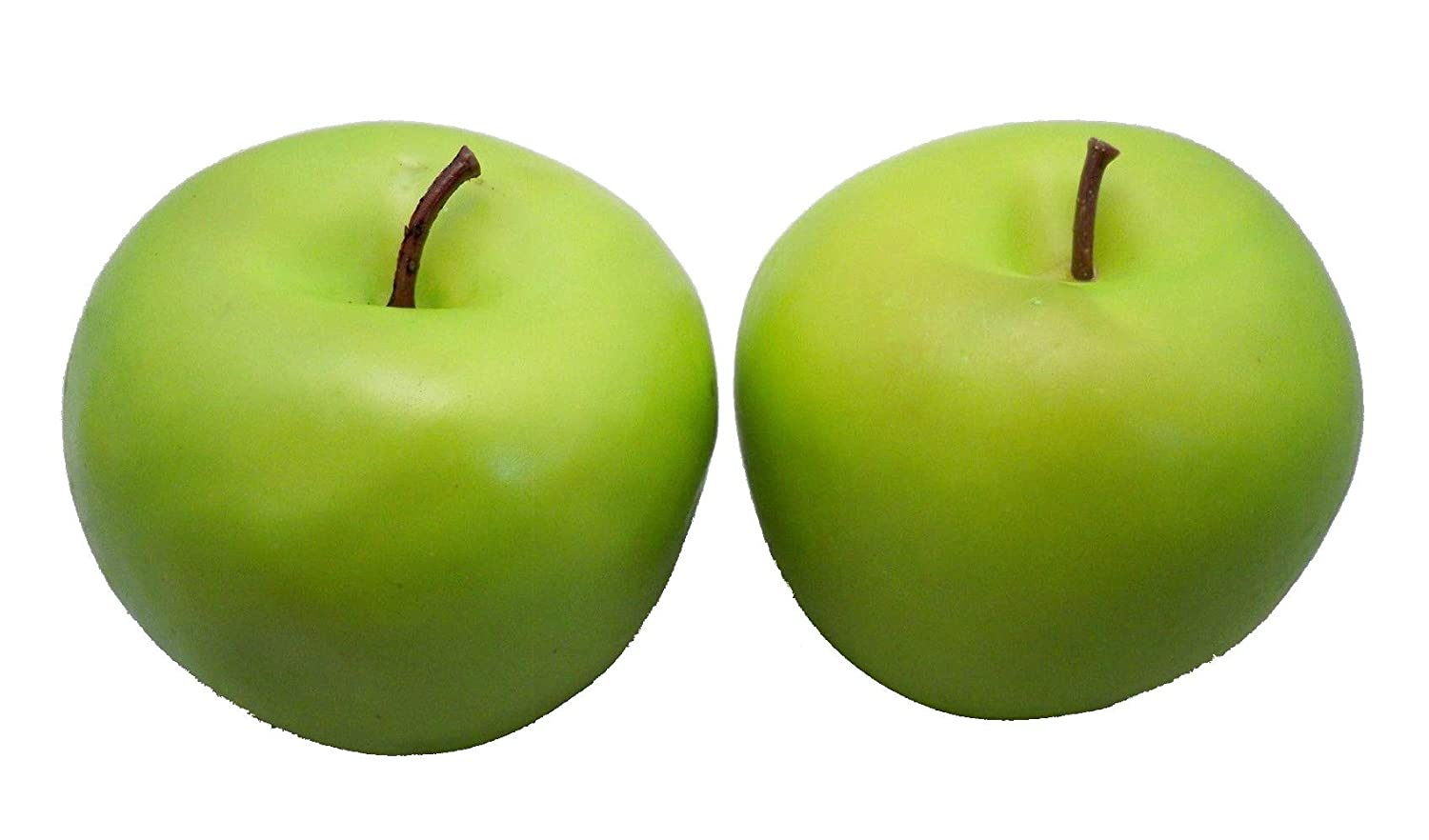 Best Artificial 2 Large Green Apples Decorative Fruit