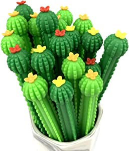 Leaf&cici-30 cactus shaped roller pens, cactus gel ink pens, writing pens, office supplies, school supplies, household supplies, etc