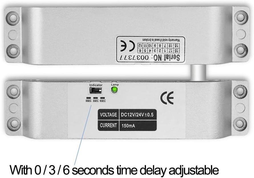 Alimentation DC12V Without Lock 10pcs Porte-cl/és pour la Maison HFeng Kit de contr/ôle dacc/ès de Porte RFID Clavier de contr/ôle dacc/ès Tactile en m/étal Serrures /électroniques