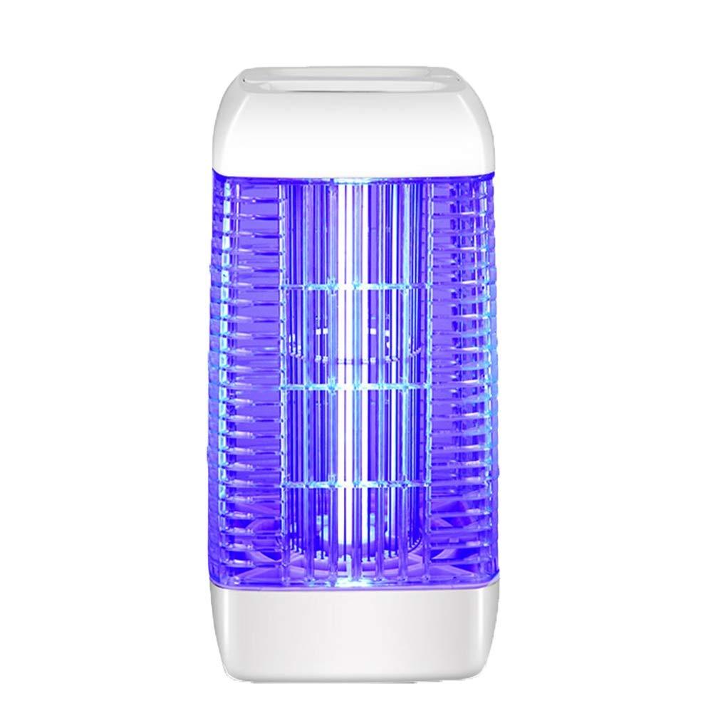 GAO YM-ammazza zanzare Lampada Scambiatore di Zanzariere Anti-zanzare con Scossa Elettrica Interna, in Plastica ABS (colore   Bianca, Dimensioni   215X215X414mm)