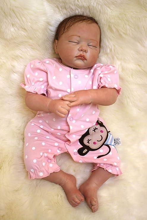 20/'/'50cm Lifelike Full Body Soft Doll Silicone Vinyl Realistic Reborn Baby Dolls
