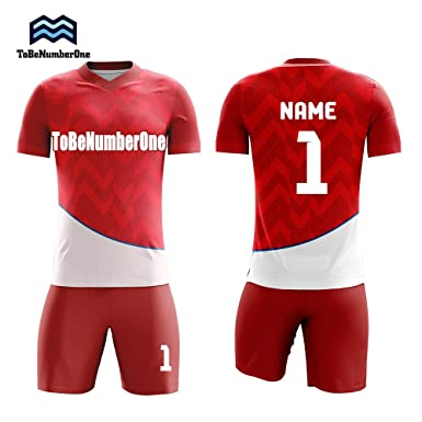 3d84a615b6a 2019 Design Your own idea red Jerseys Soccer Uniforms Custom Teamwear Men  Sportwear (S)