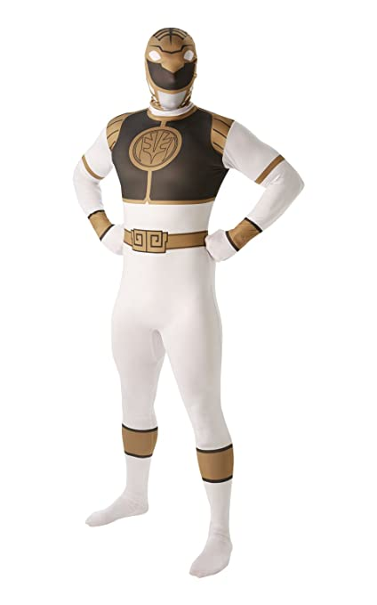 Rubies Costume Co blanco Mighty Morphin Power Ranger 2 nd Skin ...
