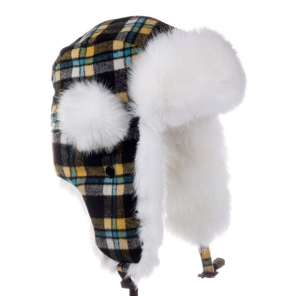 メンズ&レディース冬格子柄帽子Earmuffsスキーハットスキーキャップ   B00ODY1Y90