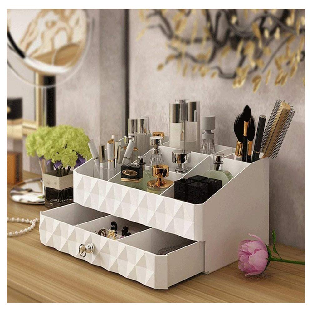0e4b003eb302 Maxkim Makeup Organizer Jewelry and Cosmetic Storage,Large Capacity,Fit  Different Size of Cosmetic,Brushes,Palettes,Lipsticks,1 Drawer 9  Compartment ...