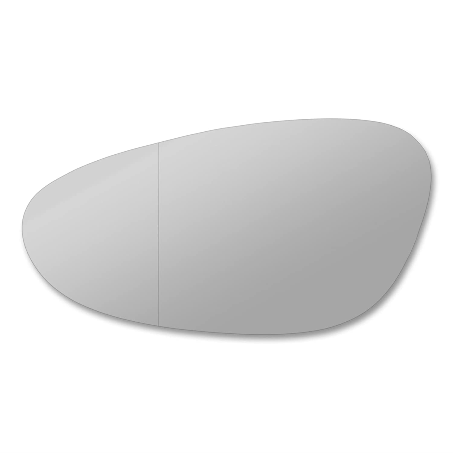 Pobox. Left side wing mirror glass. Real glass, door stick on mirror replacement Passenger side quick fix silver #Pobo-98/04-L_wa Sylgab