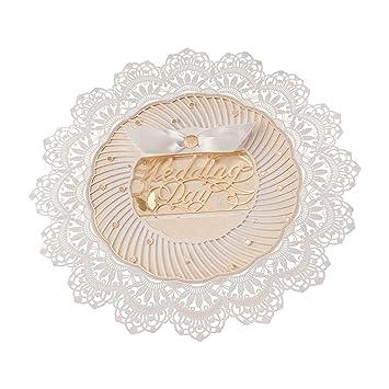 amazon com 100x wishmade lace tempatation white laser cut round