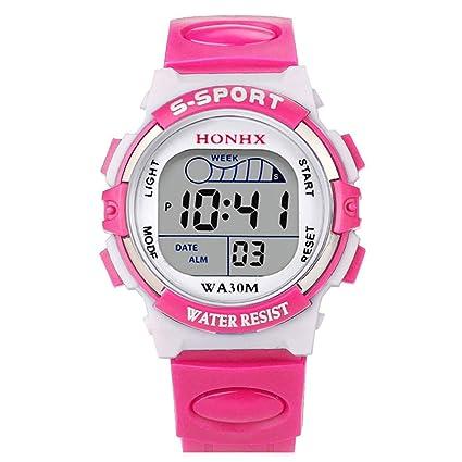 Bainuojia Joven Digital Relojes, niños Deportes 5 ATM Resistente al Agua Digital Relojes con Alarma