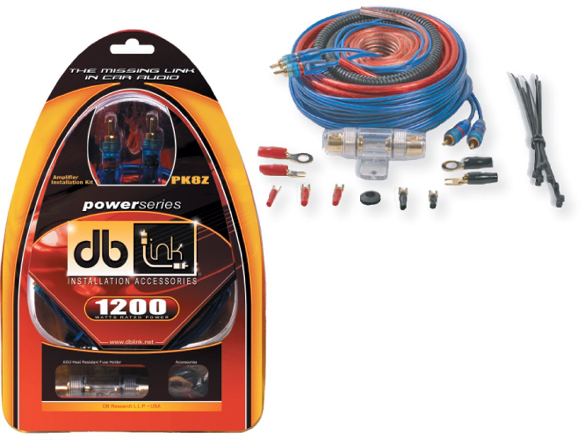Db Link Pk8z 8 Gauge Power Series Amplifier Installation New 4 Amp Kit 1200 Watt Install Wiring Car Electronics
