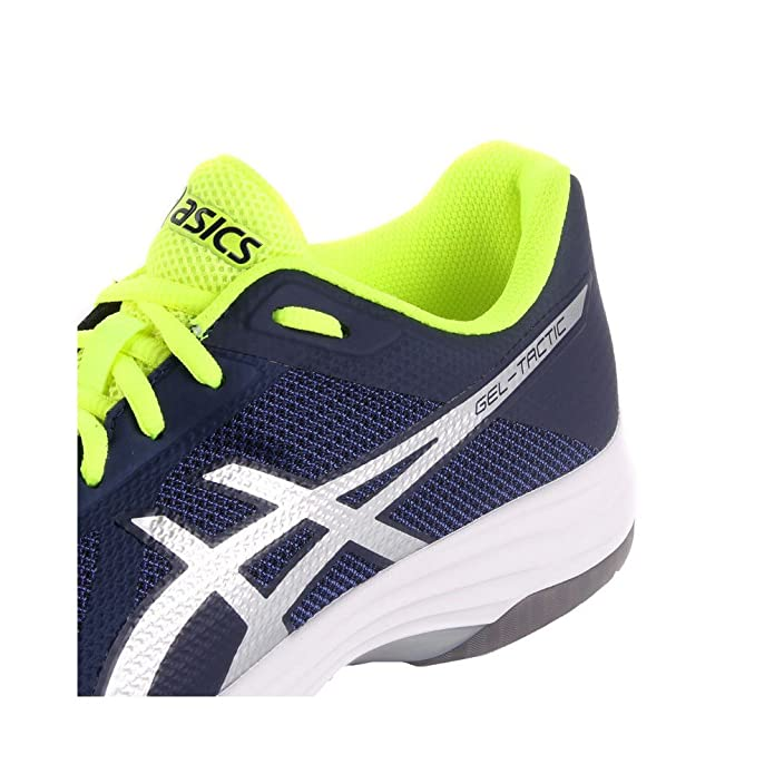 Asics Gel-Tactic, Chaussures de Volleyball Homme, Multicolore (Peacoat/Silver 400), 44 EU