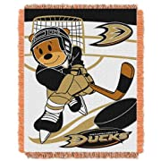 The Northwest Company NHL Anaheim Ducks Score Woven Jacquard Baby Throw, 36  x 46