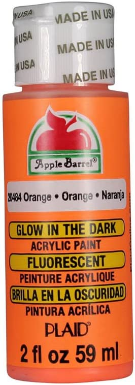 Apple Barrel Glow-In-The-Dark Acrylic Paint (2 Ounce), 20484 Orange