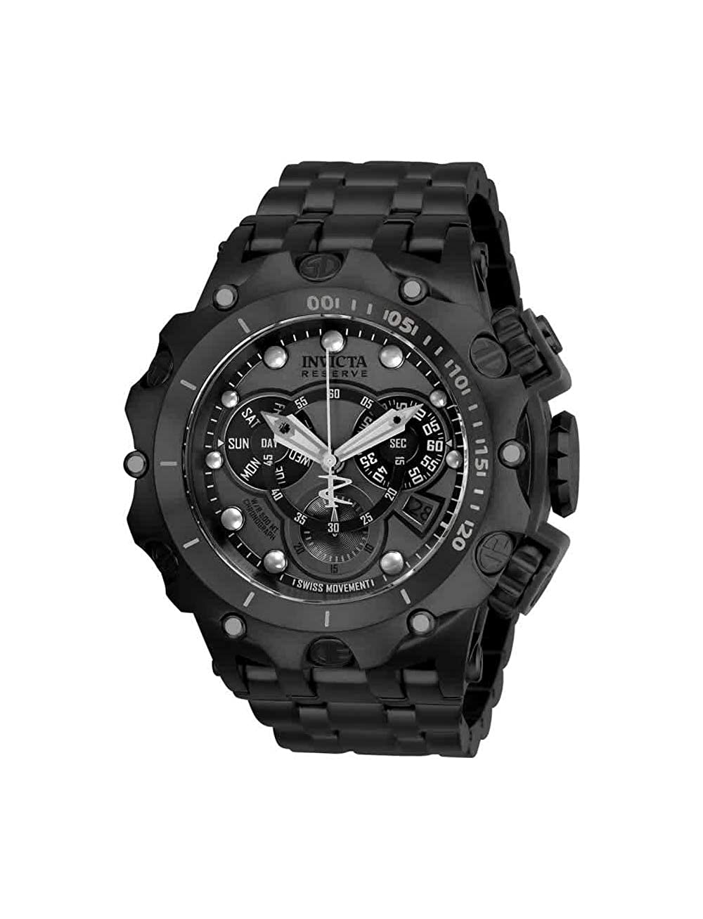 8f2f9e40fec Amazon.com: Invicta Reserve Men's 52mm Venom Hybrid Swiss Quartz  Chronograph Stainless Steel Bracelet Watch [Model: 27795]: Invicta: Watches