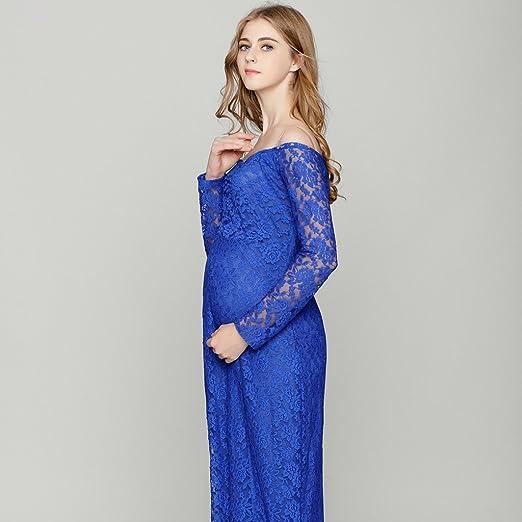Baosity Vestio Feminia Embarazadas Ropa Maxi Ajustado Elegante Forma Perfecta Accesorios - Azul, 82cm/32.28inch (tiled), 102cm/40: Amazon.es: Ropa y ...