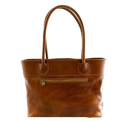 Handtasche Aus Echtem Leder Mit Schmuckanhänger Aus Leder Farbe Rot - Italienische Lederwaren - Damentasche Dream Leather Bags Made in Italy bf6OnMTf2