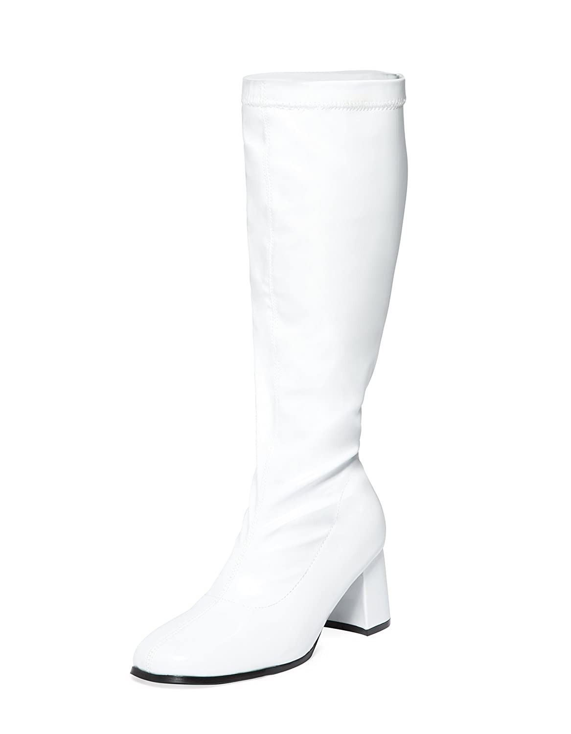 sexyca ladies womens fancy dress party go go boots 60s 70s retro 1970 Men's Shoes white knee high go go boots sizes 3 uk to 11 uk