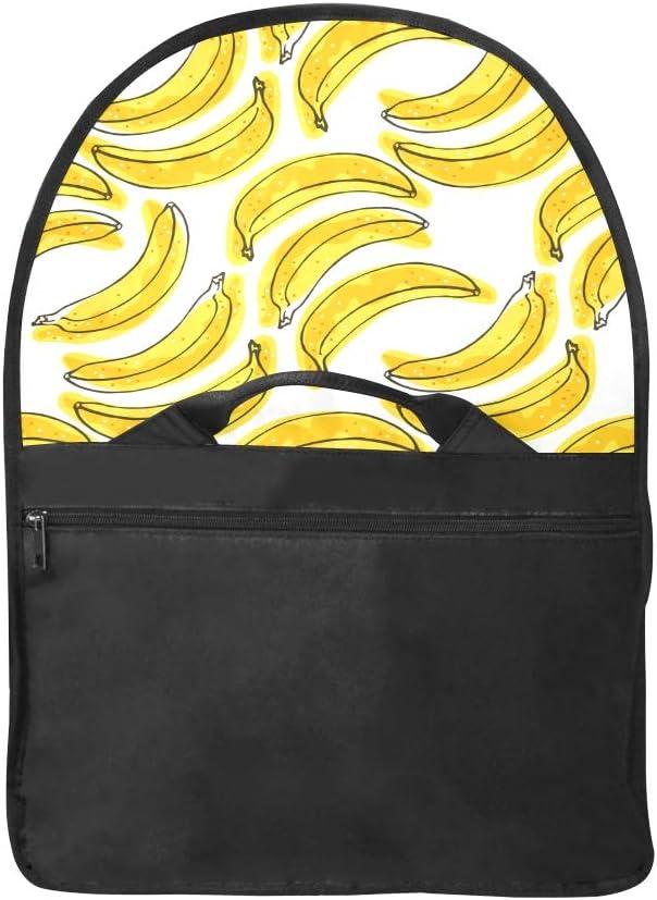 Laptop Bag for Men Yellow Delicious Carton Banana Multi-Functional Woman Carryon Bag Fit for 15 Inch Computer Notebook MacBook