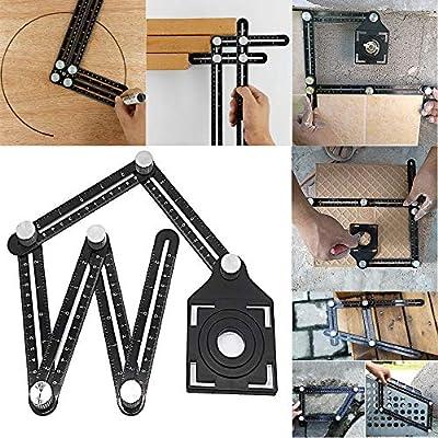 Transer Template Tool, Premium Aluminum Alloy Multi-Angle Measuring Ruler Layout Localizer with Unique Line Level for DIY, Carpenters, Craftsmen, Builders