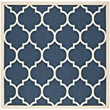 Cheap Safavieh Courtyard Collection CY6914-268 Navy and Beige Indoor/Outdoor Square Area Rug (6'7″ Square)