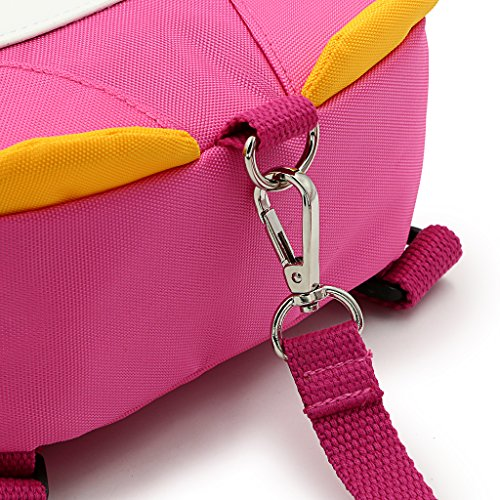 Hipiwe Baby Toddler Walking Safety Backpack Little Kid Boys Girls Anti-lost Travel Bag Harness Reins Cute Cartoon Penguin Mini Backpacks with Safety Leash for Baby 1-3 Years Old (Pink) by Hipiwe (Image #5)
