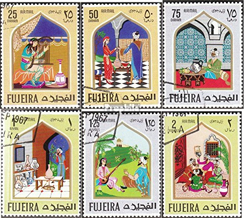 - Fujeira 192A-197A (Complete.Issue.) 1967 Oriental Fairytale (Stamps for Collectors) Other Themes