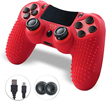 Shineled Mando PS4, PS4 Controller, Comando PS4, Mando Inalámbrico Gamepad Compatible con Playstation 4 (Rojo): Amazon.es: Electrónica