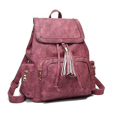 Artwell Women Backpack Purse Drawstring College School Crossbody Shoulder Bag  Tassel Rucksack Travel Daypack (Blue)  Handbags  Amazon.com 55a844e40687f