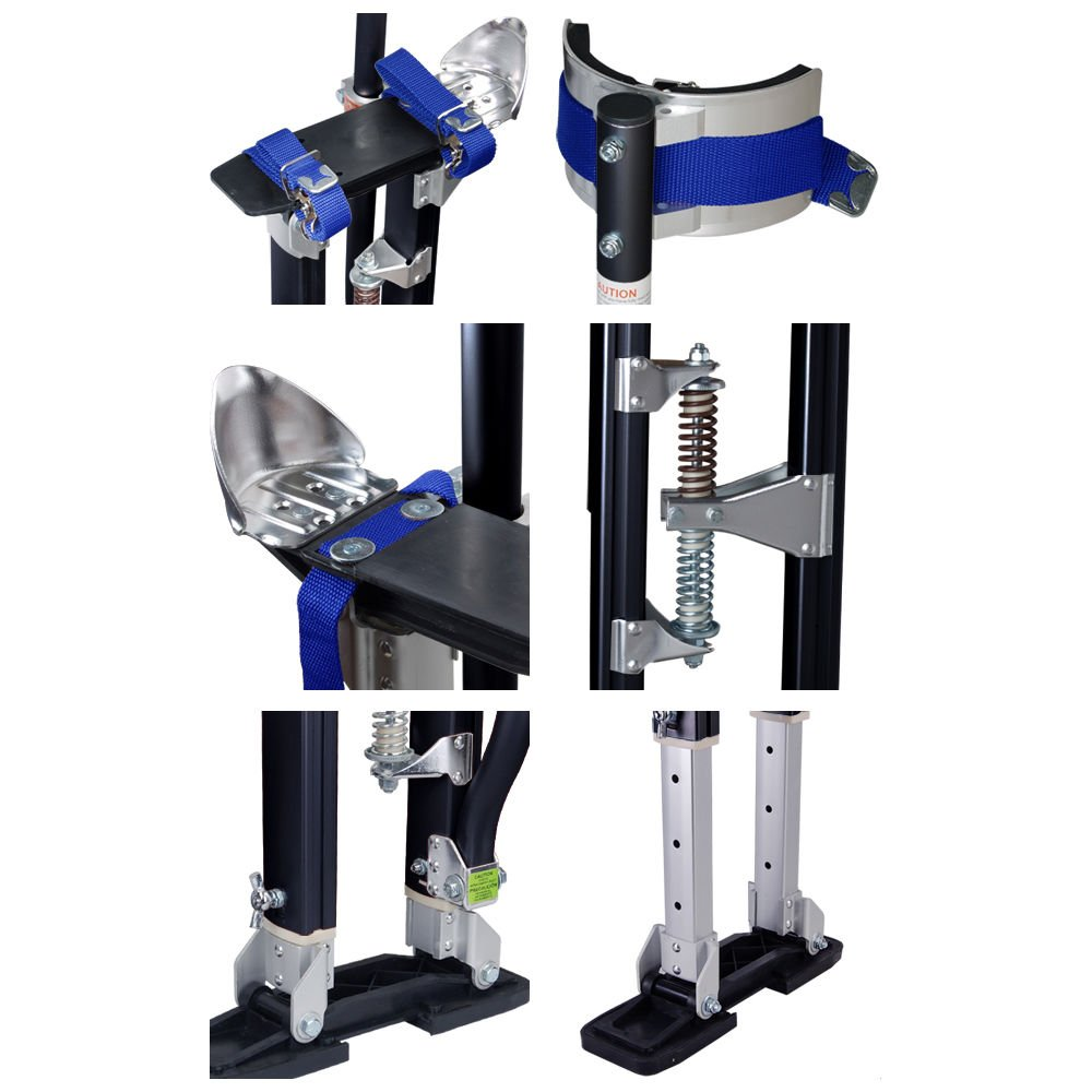 24-40 Inch Drywall Stilts Adjustable Aluminum Stilt Walking Painting Dura Taping Painter Tools by FrankMind (Image #5)