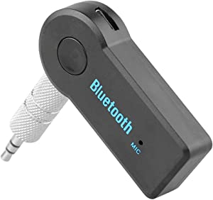 Bluetooth Receiver/Hands-Free Car Kit, Portable 3.5mm Bluetooth Aux Adapter Wireless Music Streaming for Home, Car Audio System, Headphone, Speaker(Bluetooth 4.2,A2DP,40feet Bluetooth Range)
