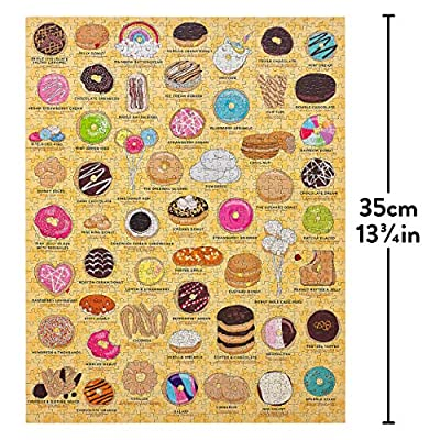 Ridley's Games Donut Lovers 1000 Piece Activity Jigsaw Puzzle: Toys & Games