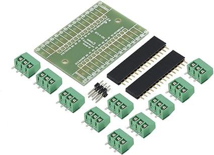 Kits de Bricolage pour Adaptateur de Terminal de Carte dextension Bleue pour lapplication Arduino Nano IO Shield V1.0 dans la Calculatrice