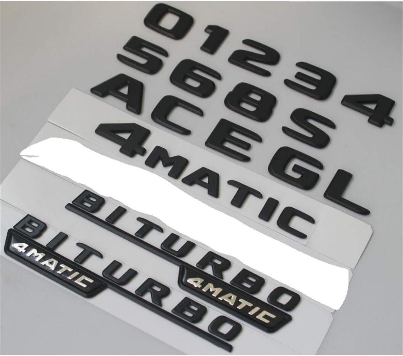 1 Paire Plat Noir V8 Biturbo 4 Matic côtés embleme badge pour Mercedes Benz AMG