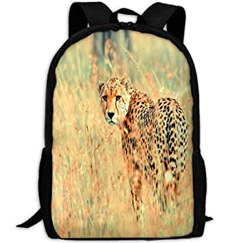 Image Unavailable. Image not available for. Color  JJLLCBOB Animals Cheetah Leopard  School Backpack for Girls Teens Bookbag Cute School Bag ... fe9e660c93f82