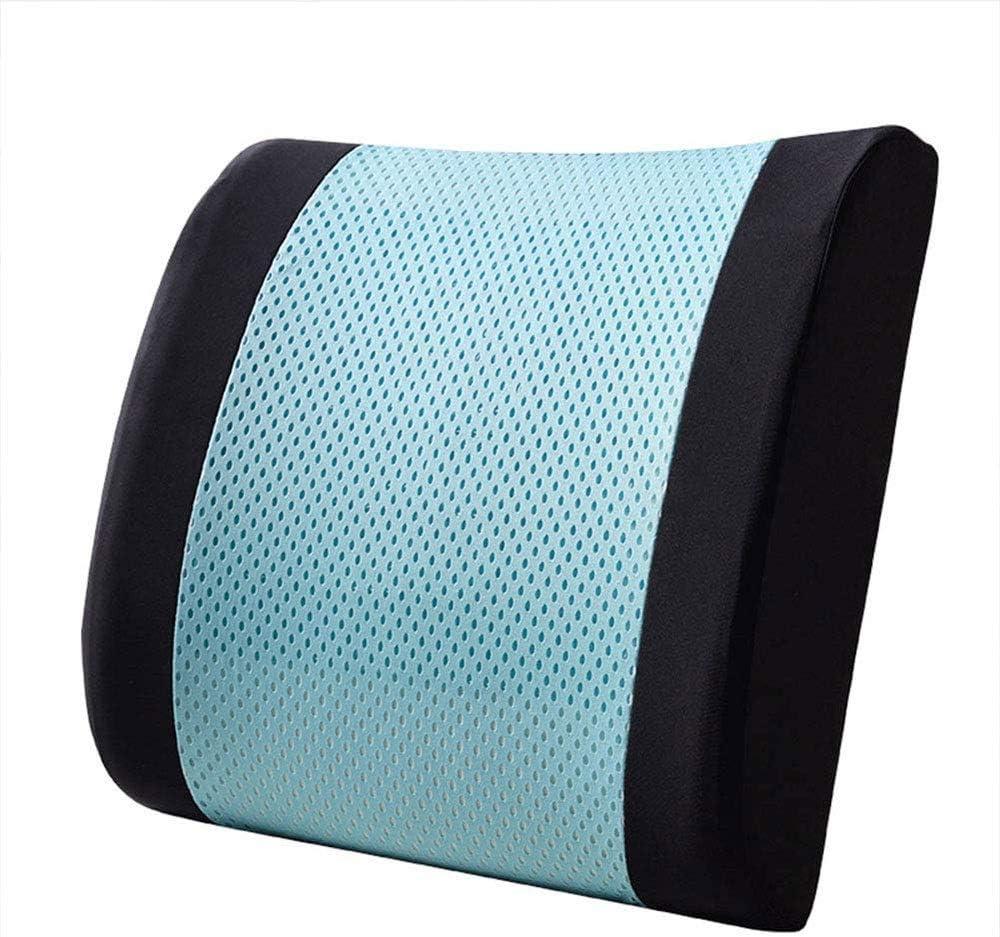 LKNJLL Soporte lumbar de la espuma de memoria amortiguador trasero con firmeza la cubierta del acoplamiento 3D equilibrada, diseñada for el dolor de espalda baja relief- Ideal Volver Almohada for el o