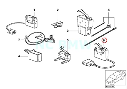 Amazon Com Bmw Genuine Micro Switch Trunk Lid Lock Automotive