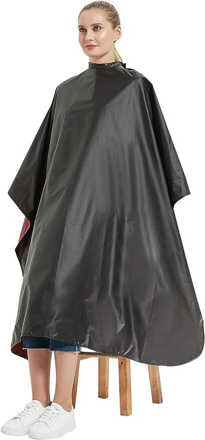 Capa de corte y peinado multiusos, Capa de peluquería para tinte y lavado, Capa impermeable para cliente de peluquería